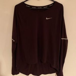 Nike Running Dri-Fit Dark Purple Athletic Shirt